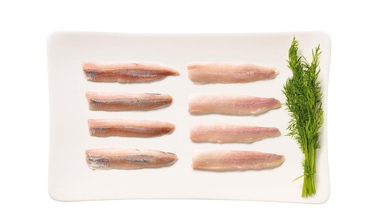 Baltic herring fillet, without skin