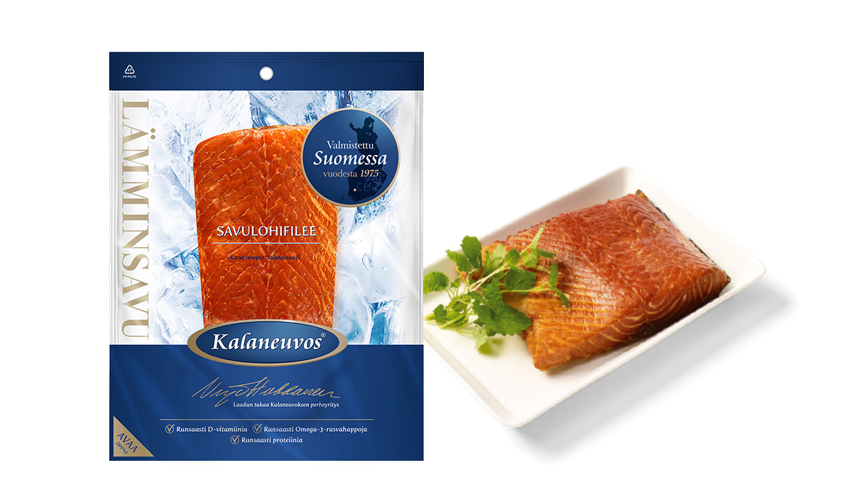 Hot-smoked salmon fillet, piece