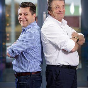 Toni ja Veijo Hukkanen noja